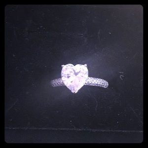 Jewelry - NIP Sterling Silver Brilliant AAA CZ Heart Ring